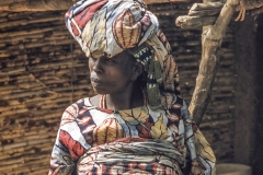 Middle Belt market woman with calabashes